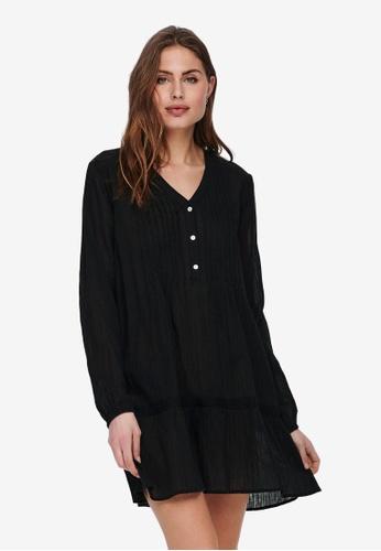 JACQUELINE DE YONG black Agnes Long Sleeve Loose Fit Tunic DD77EAAA87D858GS_1