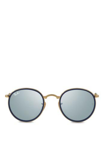 圓框偏光太陽zalora 台灣眼鏡, 飾品配件, 圓框