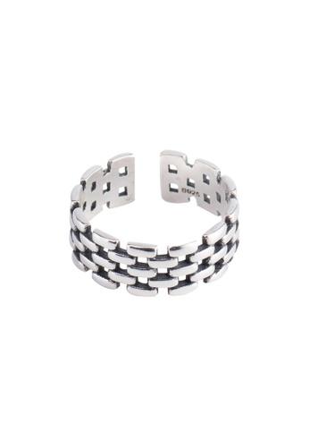 OrBeing 白色 Premium S925 Sliver Diamond Ring F451CAC261676CGS_1