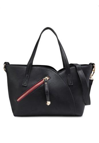 Perllini&Mel black Faux Nappa Leather Tote Bag PE423AC88LRRSG_1