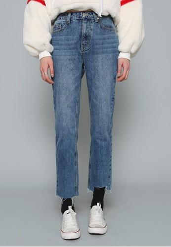 裁剪褲腳牛仔褲, 服飾, 多色牛esprit 台中仔褲
