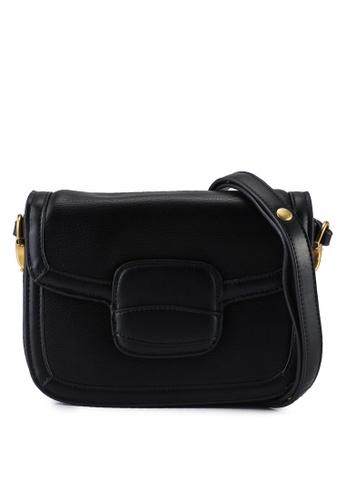 Unisa black Pebbled Sling Bag A57A1ACDFBE6ACGS_1