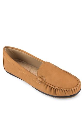 縫線細節麂皮樂福鞋, 女zalora是哪裡的牌子鞋, 船型鞋