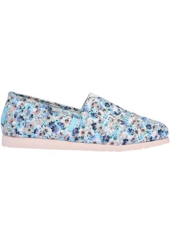 paperplanes blue Paperplanes-1325 Elegant Flower Pattern Canvas Slip-Ons Shoes US Women Size PA355SH09QBQSG_1
