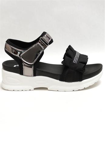 Crystal Korea Fashion black Korean-made Summer Sweet Wrinkled Platform Sandals 5D9EDSHC5D3588GS_1