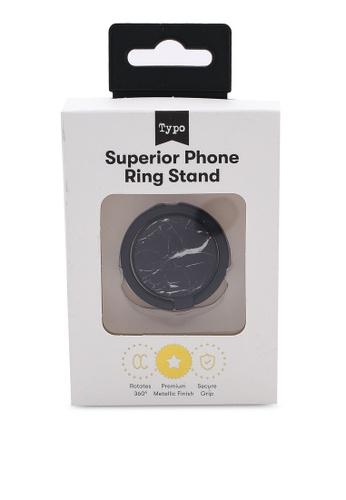 Typo black Metal Phone Ring D176DAC5A7532FGS_1