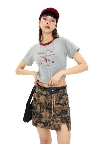 Twenty Eight Shoes Slim Printed Short Sleeve T-shirt HH0013 C8CBAAAD1E7F85GS_1