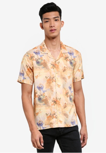 Topman multi Romantic Woman Short Sleeve Shirt 4A272AA4B885BEGS_1