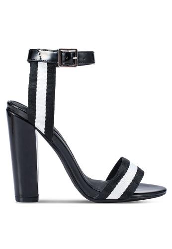 MISSGUIDED 黑色 條紋漆皮高跟鞋 8D3BBSHB25B449GS_1