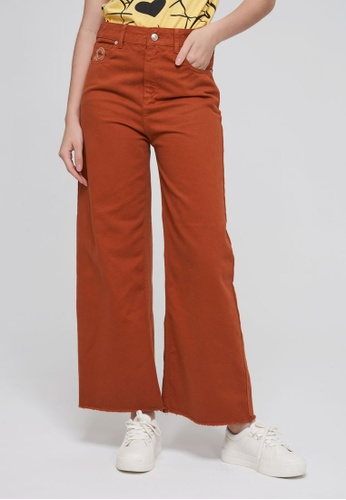 United Colors of Benetton beige Frayed Cropped Pants 402B1AAB8EDA8AGS_1