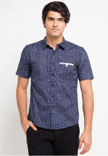 BRITANIA multi and navy Short Sleeve Flower Print Shirt BR202AA0V8YYID_1