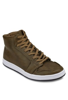 Faux Leather High Top Sneakers