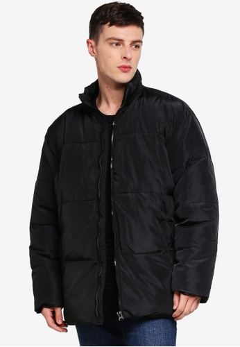 Cotton On 黑色 Oversized Puffer Jacket 083E0AA1365AF5GS_1