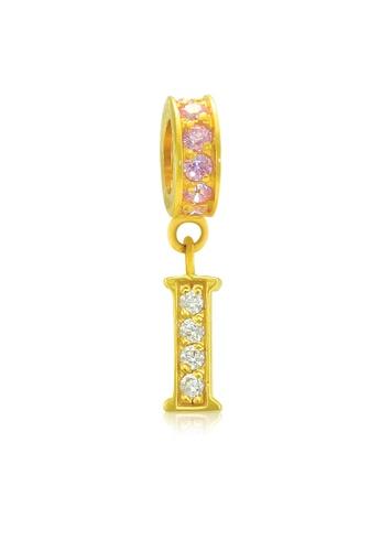 Aurora Italia gold Aurora Italia Alphabet - I 18K Gold Charm/Pendant DA0D8AC9117916GS_1