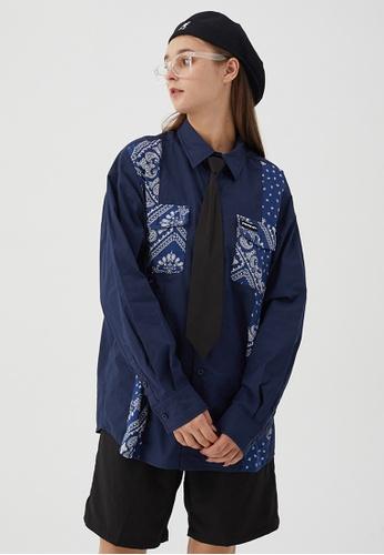 Twenty Eight Shoes Retro Printed Long Shirt(Tie Included)HH0960 2108EAAB84D3B9GS_1