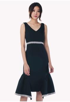 64995804b8c Nichii black Double Ruffle Drop Hem Dress B1510AAB19F0C4GS 1