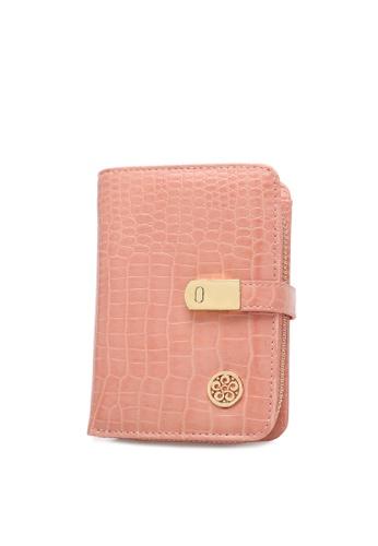 Wild Channel pink Faux Leather Purse A33D9AC9D19EB4GS_1