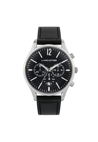 Lancaster Paris black and silver Heritage Chronograph LA452AC0GA1JSG_1