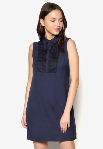 Ginger 襯衫zalora 衣服尺寸式無袖直筒連身裙, 服飾, 洋裝