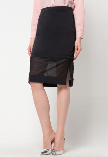 WHITEMODE black Brylee Skirt WH193AA03HCUID_1