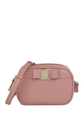 Salvatore Ferragamo pink VARA BOW Leather Camera Bag 0E7F1ACEB8D288GS_1