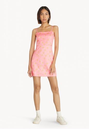 Pomelo pink Pomelo x Smiley Tie Back Dress - Pink 9FE0EAAF4E9441GS_1