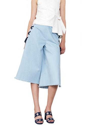 N12H blue High Split Culottes N1377AA0GQIXSG_1