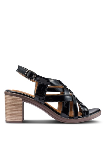 Carlton London 黑色 繞帶高跟鞋 3A568SHD811882GS_1