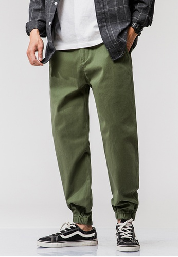 hk-ehunter Men's Spring Japanese Style Casual Loose Cotton Pant - Green BB484AA842A29DGS_1