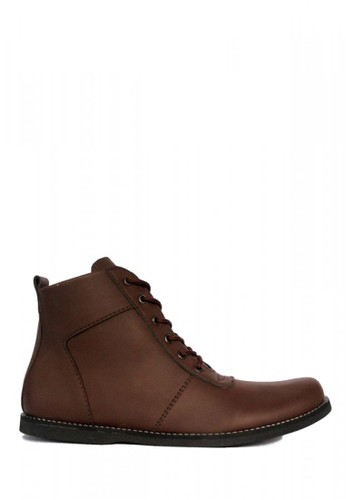 D-Island brown D-Island Shoes Zipper Ventura Comfort Leather Brown CD8F9SH88C3CEBGS_1