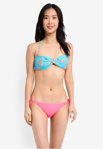 Yshey pink and blue Alice Tropical Ocean Bikini Set YS681US0SRABMY_1