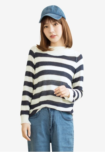 Tokichoi multi and navy Basic Long Sleeve Striped Top A944DAAF9FBF1FGS_1