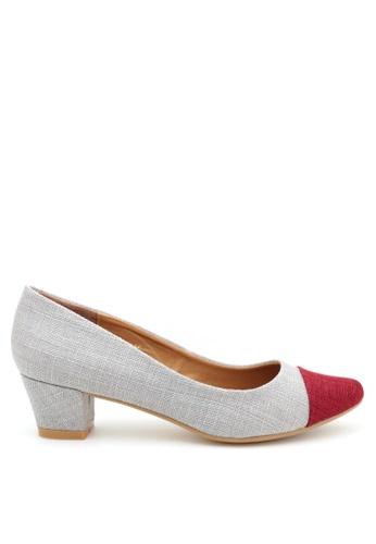 PRODUIT PARFAIT red Two Tone Pointed Toe Pumps 14097SH8E998BBGS_1