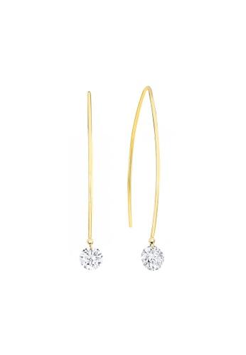 Khoe yellow Khoe 18K Yellow Gold Charlotte Diamond Earring 47283AC787B3CAGS_1