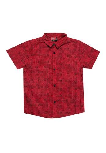 No Fear red Irregular 1 - Boys Short Sleeve Shirt 3B49BKAE11E4CBGS_1