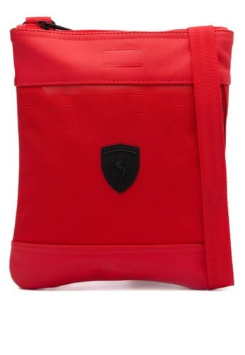 Puma red Ferrari LS Flat Portable Bag PU758AC0JL9WPH_1