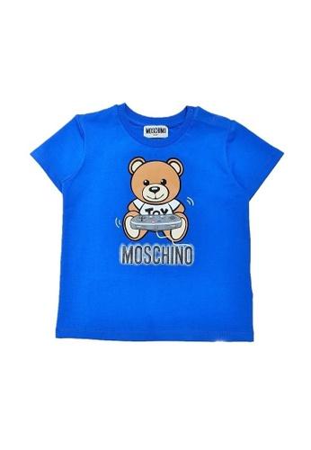 MOSCHINO BABY KID TEEN blue MOSCHINO BABY T-SHIRT 55772KAC11C67CGS_1