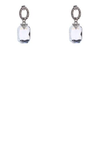晶鑽垂墜zalora taiwan 時尚購物網耳環, 飾品配件, 耳環
