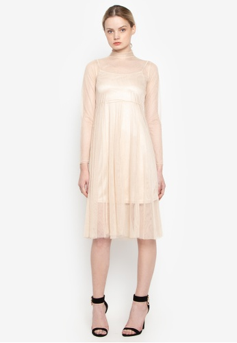 Susto The Label beige Diana Tulle Dress CF642AA89F0747GS_1