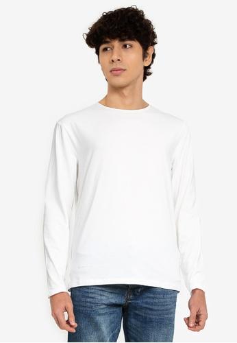 OVS white Long-Sleeved T-Shirt 8B72FAA1889738GS_1