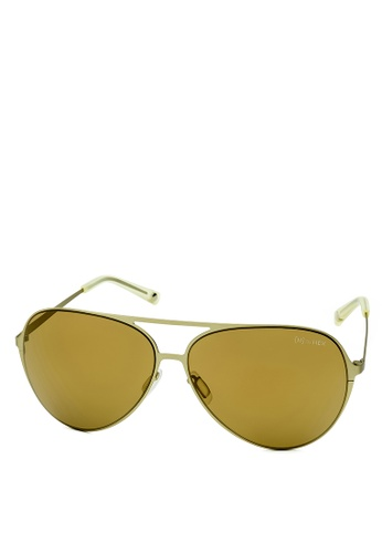HEX EYEWEAR yellow and gold Aviator - Wilbur W. - Sunglasses - Italy Design HE671AC2V1LHHK_1