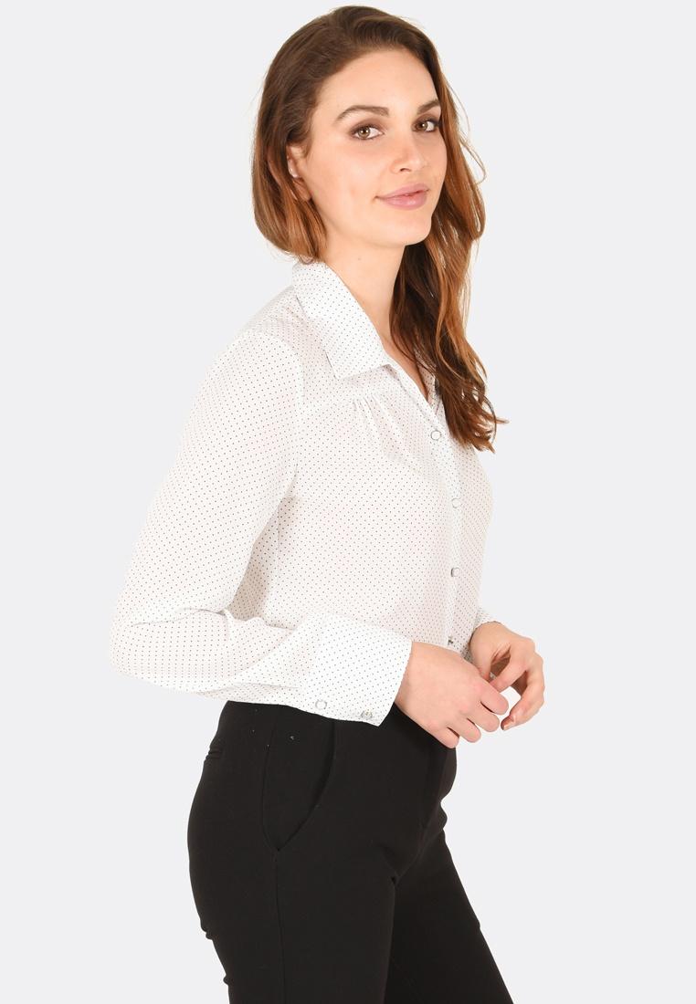 Ivory Alaia Up Shirt FORCAST Button ZBqXgw