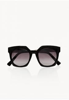 d0d31927d ... Oversized Textured Temple Sunglasses - Black Pomelo ...