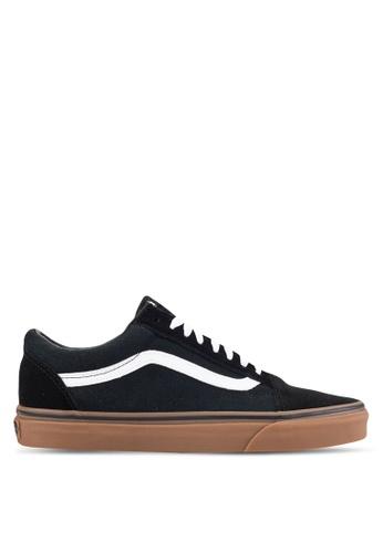 VANS black and brown Core Classic Old Skool Sneakers VA142SH18IDDMY_1