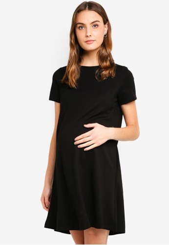 Spring Maternity black Maternity Short Sleeves Cynthia Dress BC3CBAA12EF700GS_1