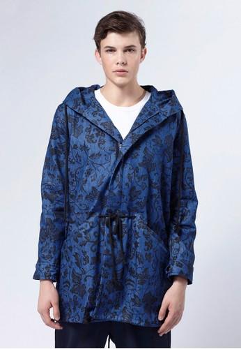 Life8 x Daesprit旗艦店niel Wong。圖騰牛仔派克風衣-03664-牛仔藍, 服飾, 外套