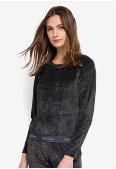 3f1ebb2dd5 Calvin Klein black Modern Cotton Long Sleeve Sweatshirts - Calvin Klein  Underwear 531D9AA1314922GS 1