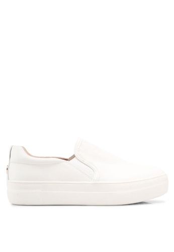 TOPSHOP white Tina Platform Slip On Trainers 9961FSHE46A927GS_1