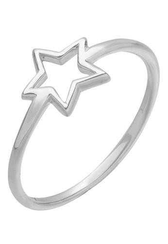 Elli Germany silver Perhiasan Wanita Perak Asli - Silver Cincin Basic Star 9379AACE20580FGS_1