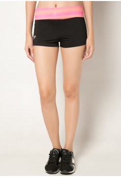 Meisou Yoga Shorts with Fold Over Waistband